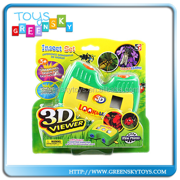 Children insect photoes viewer camera 3d picture viewer toy