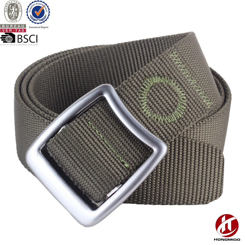 Factory Wholesaler High Quality Men's and Women's Outdoor Sport Quick-Dry Military Style Nylon Web Belts with Alloy Buckle