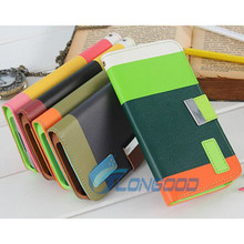 Fashion PU Leather Wallet Flip Cover Stand Case For Samsung Galaxy S5 SV i9600