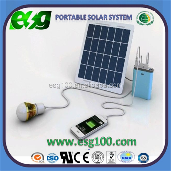 40W Portable Solar Panel System with ACDC Output