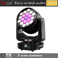 New products 19x7inl 25w zoom moving head light for nightclub with ring control