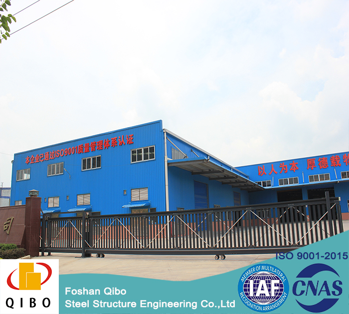 prefabricated steel structure workshop , steel tube galvanized structure shopping center
