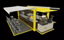 Mobile restaurant container design, 10ft/ 20ft/ 40ft Pop-Up prefabricated modular shipping container restaurant