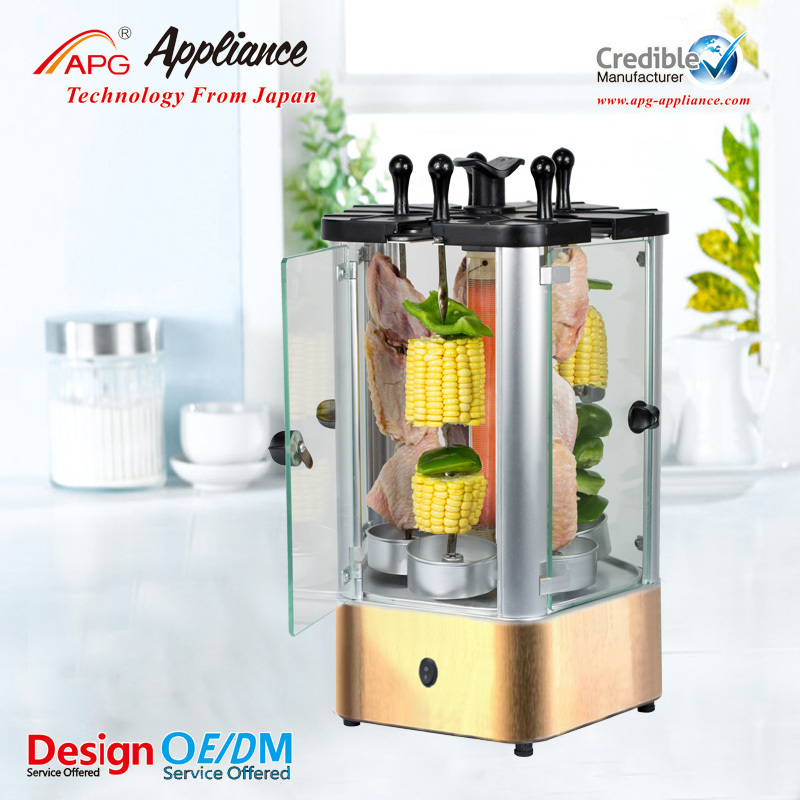 Vertical electric kebab grill with Timer