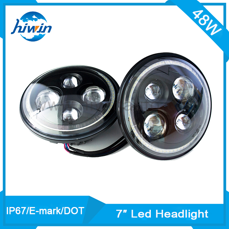 Long life new motorcycle led headlight 16w for Jeep Wrangler