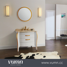VUMN bedroom vanities with soild wood legs high quality bathroom vanity unit
