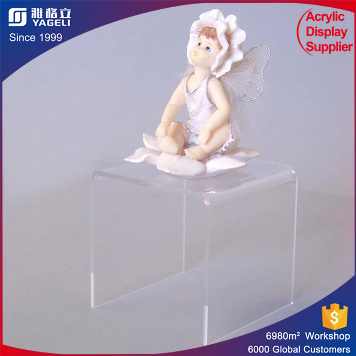 Floor standing acrylic products display platform centerpiece acrylic display stand