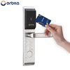 Hot sale stainless steel rfid hotel smart card reader card swipe door lock, hotel card lock management software