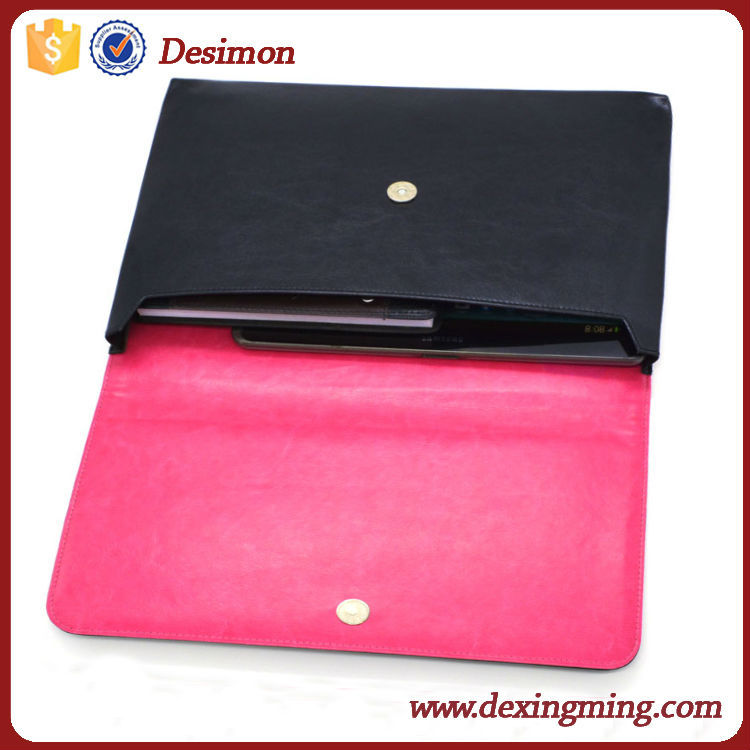 2017 hot sale universal leather pouch for 13 inch tablet pc case
