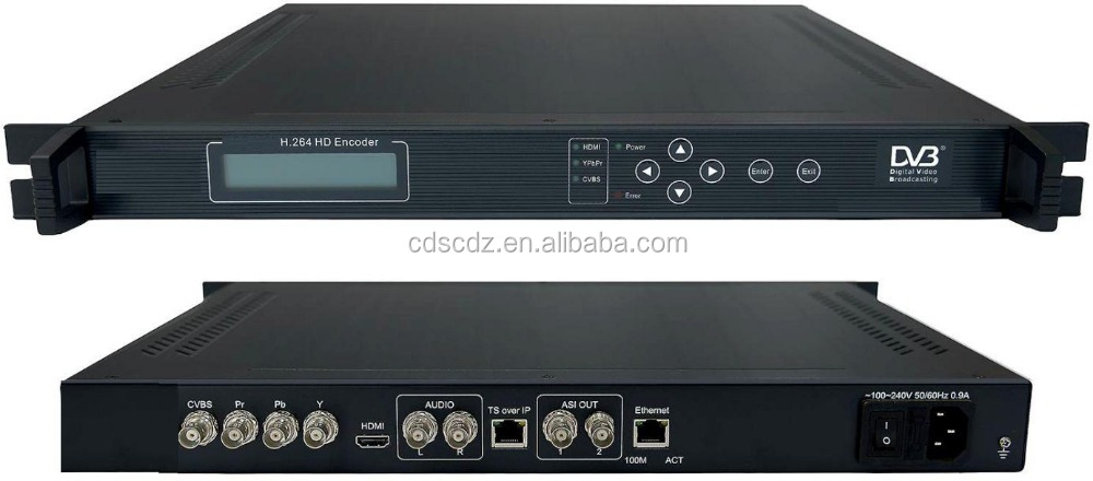 1080p hd encoder SD/HD H.264 Encoder(HDMI+YPbPr+CVBS/AUDIO in,ASI+IP out)