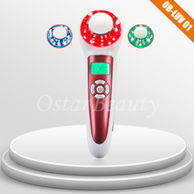 photon care led and ultrasonic skin rejuvenation with 3 light colors LUV 01