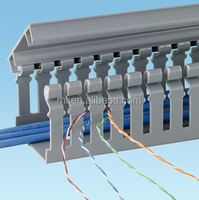 wiring accessory pvc cable tray, plastic end cap for channel
