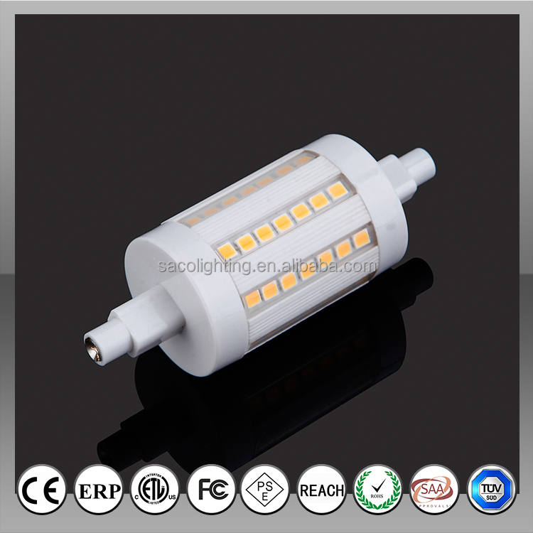new great heat design 78mm 64pcs 2835 600lm 6W R7s <strong>LED</strong> with ETL CE,RoHS