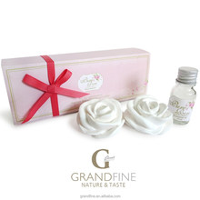new promotion idea 10ml natural essencial oil fragrance set with rose ceramic plaster in paper gift box