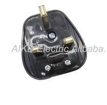 EU US 2pin socket travel power adapter AC to UK 3 Pin plug European 2 pin plug to UK 3 pin