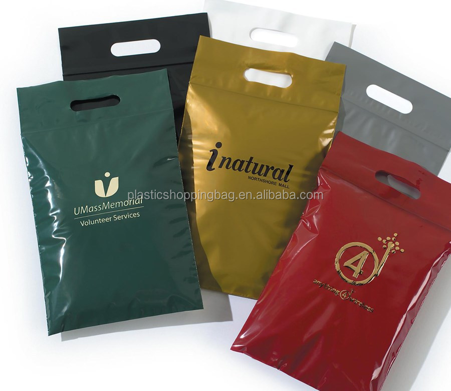 Plastic Bag OEM Custom Printed Plastic Shopping Bag with Zip Lock