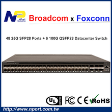 High-end cloud builder 100G Data Center Switch with 48 SFP28 & 6 QSFP28 ports network switch