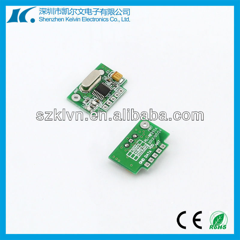 Super-heterodyne anti-jamming receiver with rf remote non-encode KL-RF211A