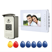 "Swiping Card Unlocking 7"" wire digital HD Visible Door Bell with Infrared Ray and Night Vision Function"
