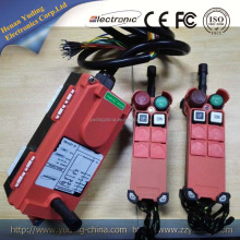 F21-2s 2 transmitter 1 receiver 2 channel single speed push button industrial radio remote controls for hoist