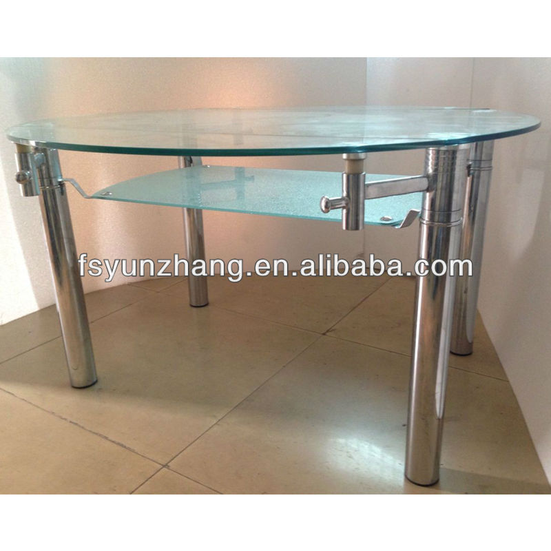 Folding Round Two Level Glass Dining Table Buy Two Level Glass