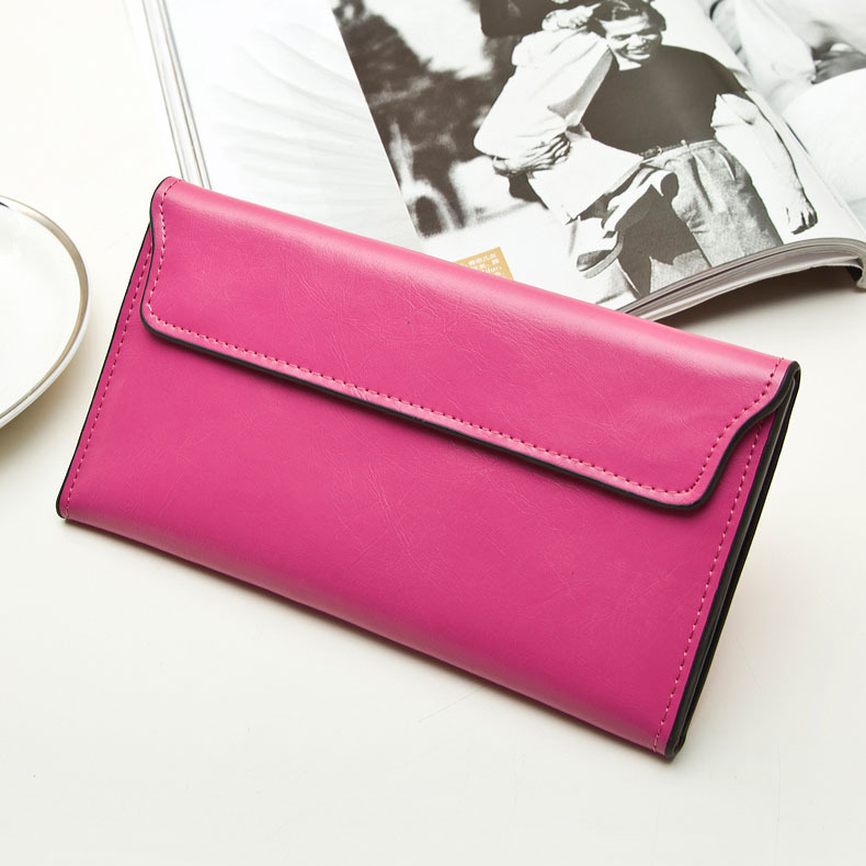 Latest design genuine leather envelope ladies clutches and purses