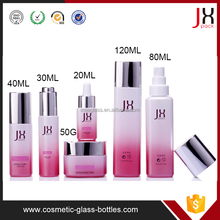 Eco-Friendly Material Glass Cosmetic Bottle Packaging/Glass Cosmetic Lotion Bottle