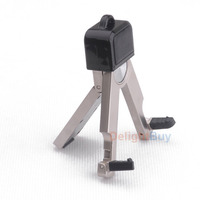 Portable Stainless Steel metal Mobile Phone Stand Holder Mount Bracket for iPhone Samsung Cell Phone