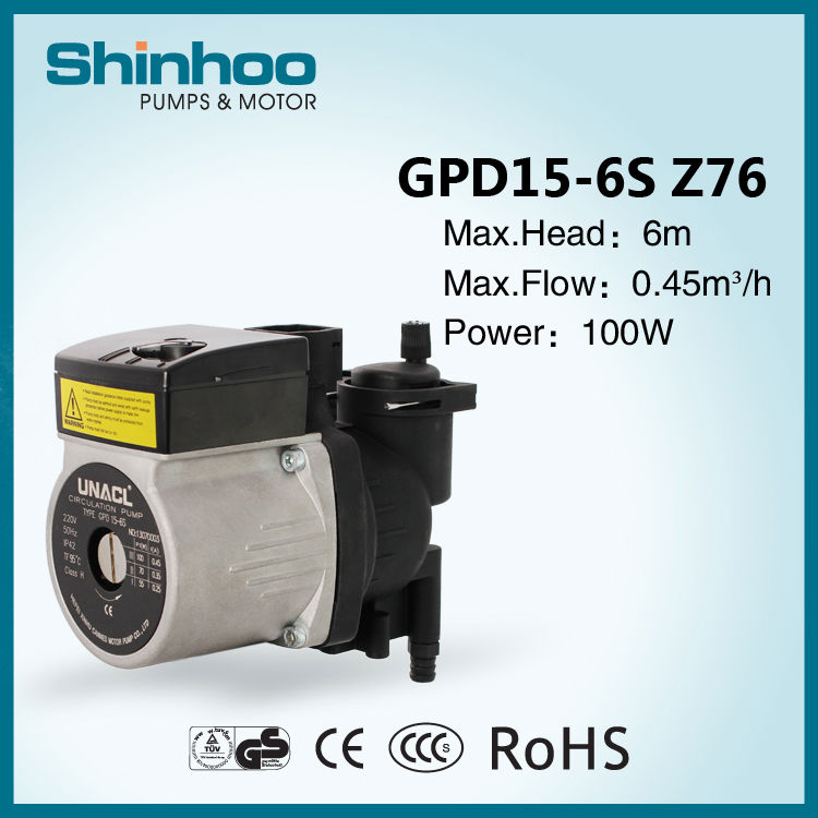(GPD15-6S-Z76) Home use electric hot boiler water pump