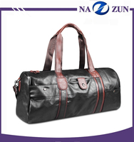2016 hot design popular oversea sports leather travel duffel bag