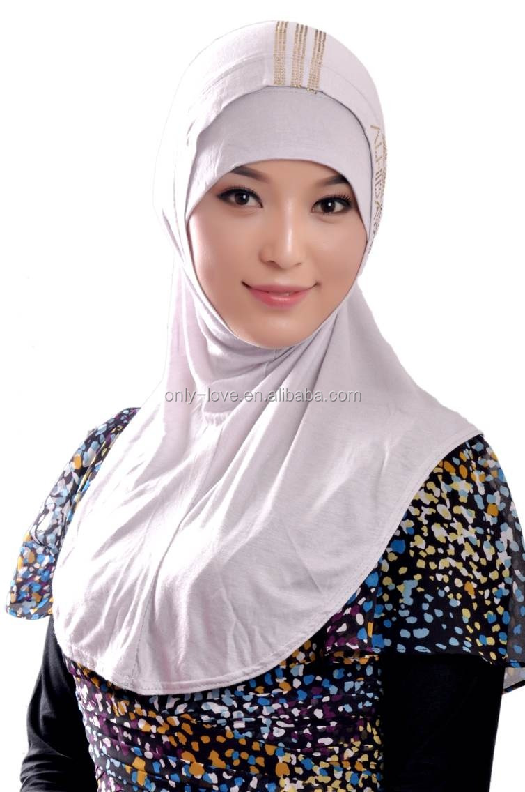 jersey cotton hotsell two peices muslim hijab islamic scarf SYF044a