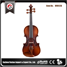 China Direct Buy Whitewood Dyed Black Tunner Violin Instrument