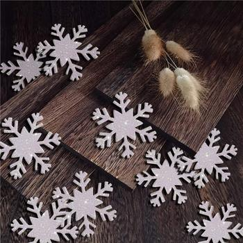 White Glitter Snowflake Confetti for Christmas Home Decor Winter Holiday Wedding Years Frozen Birthday Party Decoration