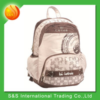 MOQ 20pcs high quality fashionable waterproof school backpack stocks