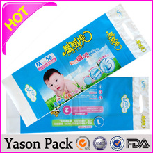 YASON food boiling plastic bag2.5mil thickness plastic bagclear plastic zipper bag with handle