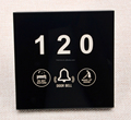 Touch Hotel Doorbell Switch 86*86mm Panel Room Number Lighting Door Display with DND MUR