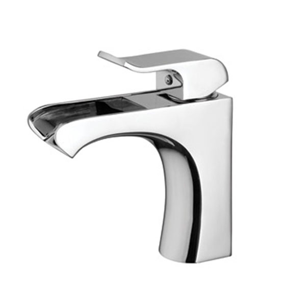 Single Lever Copper Waterfall Bathroom Faucet Mixer