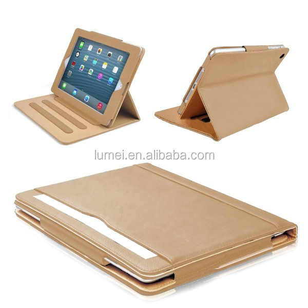 Brown & Tan Magnet Leather Case Cover For Ipad Air 2