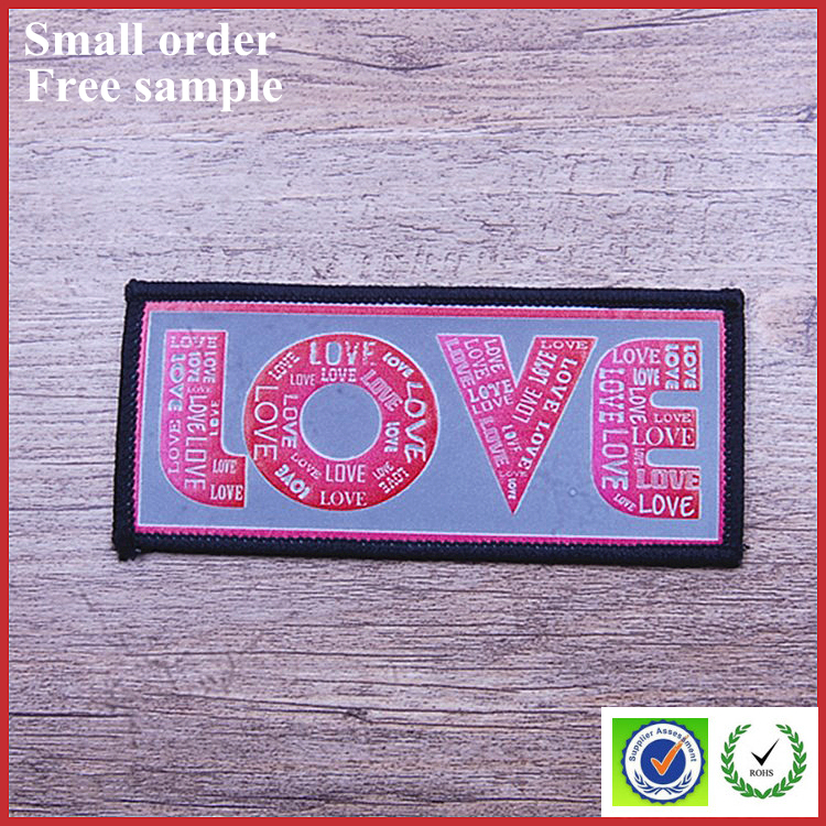 Satin label printing free machine embroidery border digital print label designs