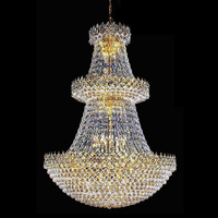 Empire Large Crystal Ball Shape Hotel Lobby Chandelier Made in China