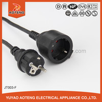 VDE approved male and female power extension cable.IP44 rubber power cord.waterproof extension cable