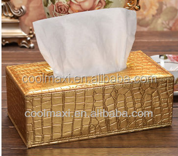 luxurious leather Hotel tissue holder
