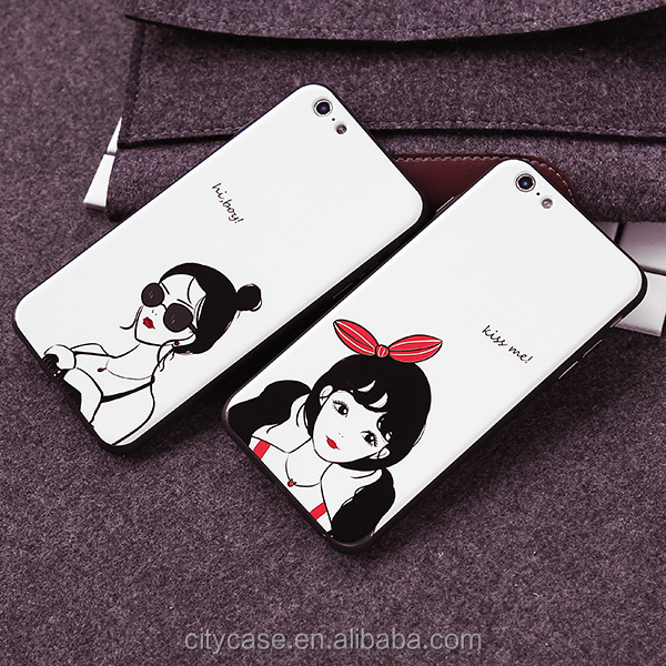 citycase sex fashion girl silicone mobile phone cover case for iPhone6 6s