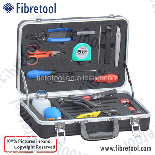 DW-10 21 Pieces Fiber Optic Fusion Splicing Tool Kit/ Fusion Splicing Tool Box