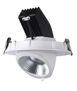 Competitive price 32w 38w 42w 50w cct dimming cob downlights + gimbal led recessed downlight