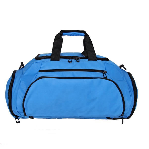 HOT SALE ! The dual-purpose Popular Waterproof Outdoor Sports Bag Duffle Gym bag to backpack +Independent shoe bit