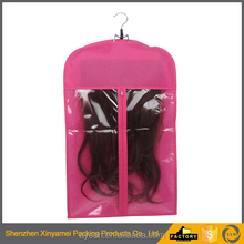 2017 new customize printed pvc plastic packaging bags for hair extensions