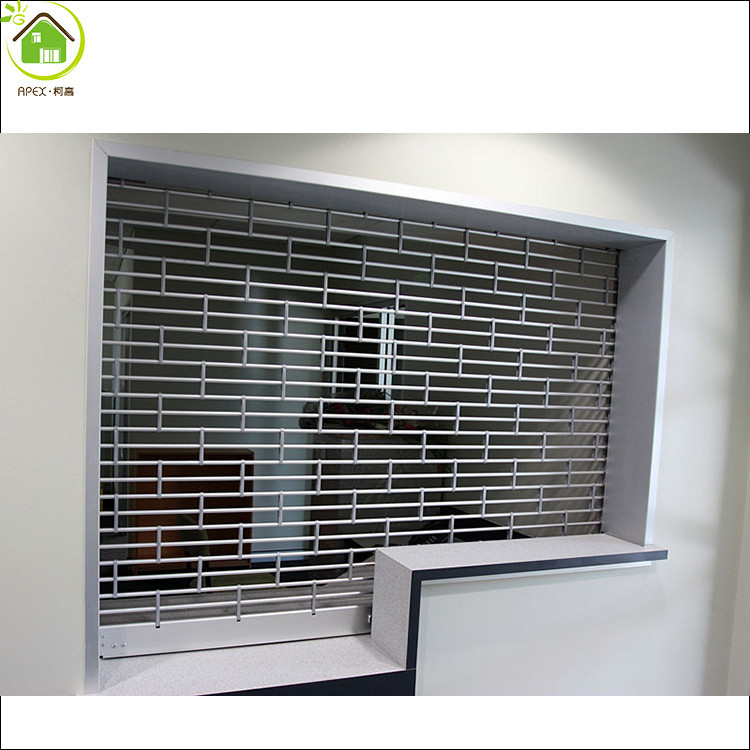 Aluminum and steel door Commercial roll up door / store front security grilles/rolling grill gates
