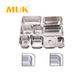 MUK hotel restaurant equipment stainless steel food container gastronorm pan