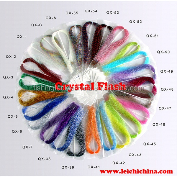 Crystal flash fly tying materials